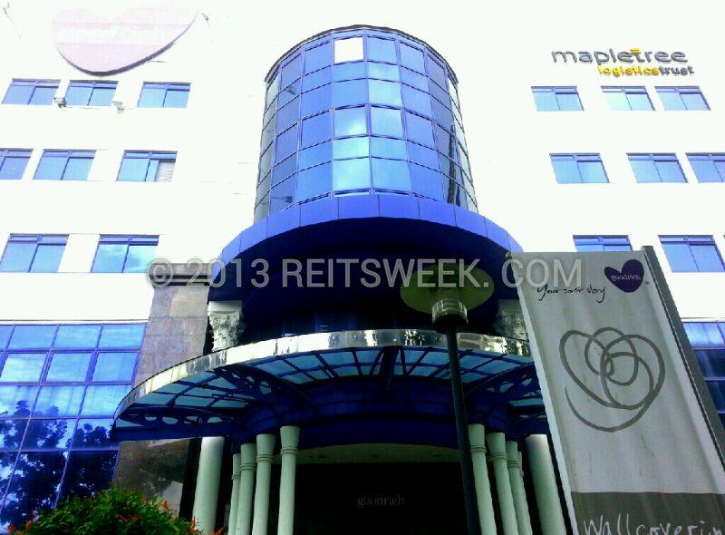 Mapletree Logistics Trust property at Changi South Lane, Singapore.