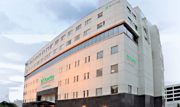 Religare Health Trust property, Fortis Hospital at Benerghatta.
