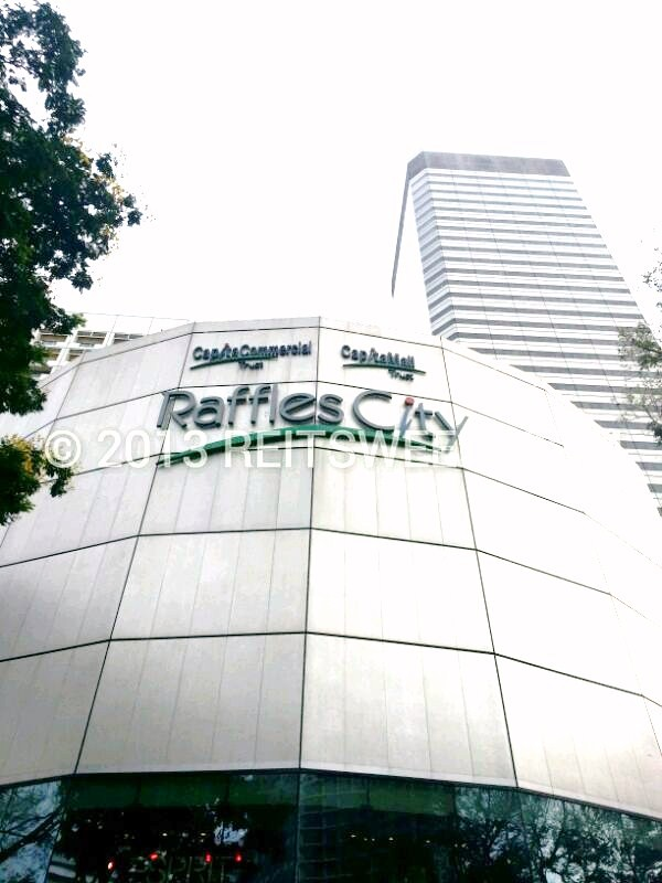 Raffles City, Singapore with property components under both CMT and CCT.