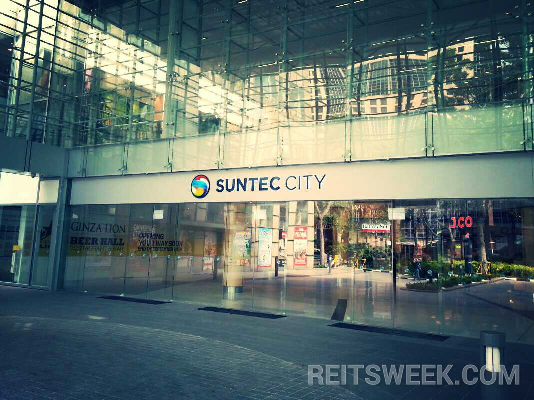 Suntec REIT's flagship property in Singapore, Suntec City. (Photo: REITsWeek)