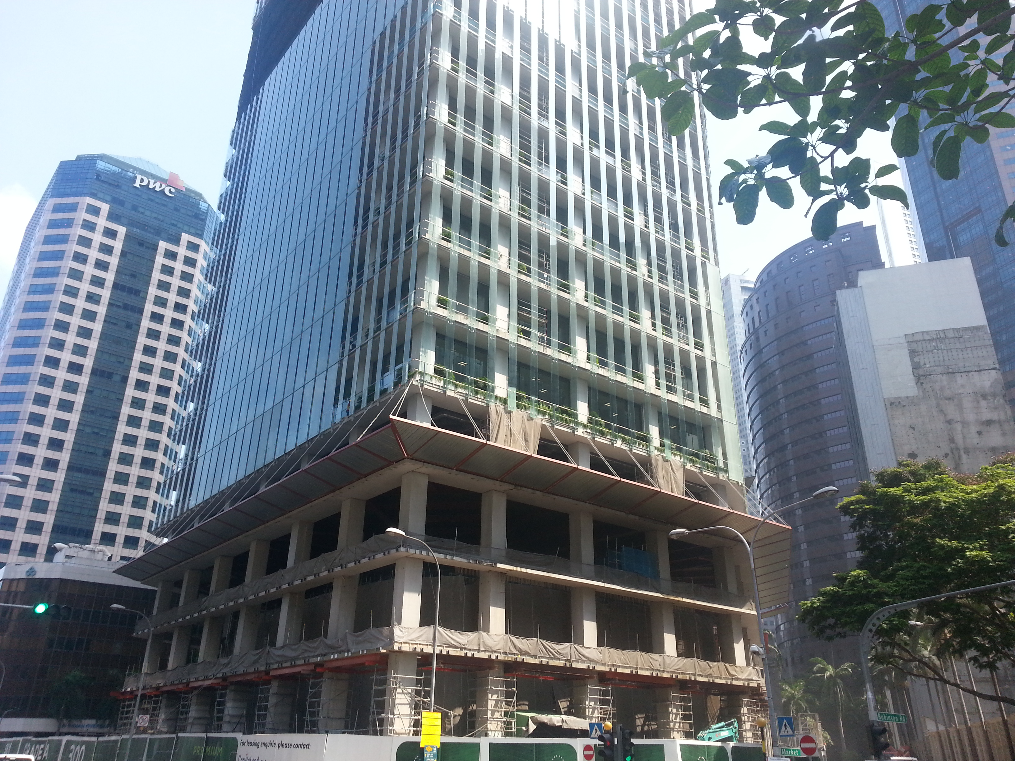 CapitaCommercial Trust's property, CapitaGreen in the heart of Singapore's CBD.