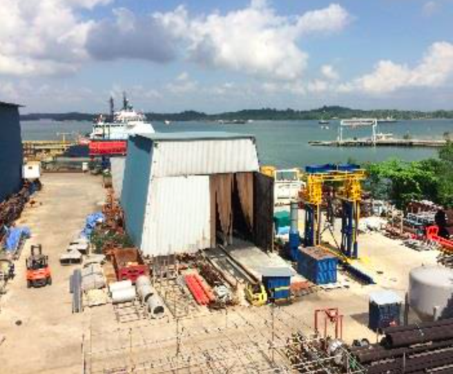 72 Loyang Way includes a jetty with 142 metres of sea frontage which serves as a fully-integrated offshore supply base (Photo: Soilbuild Business Space REIT)