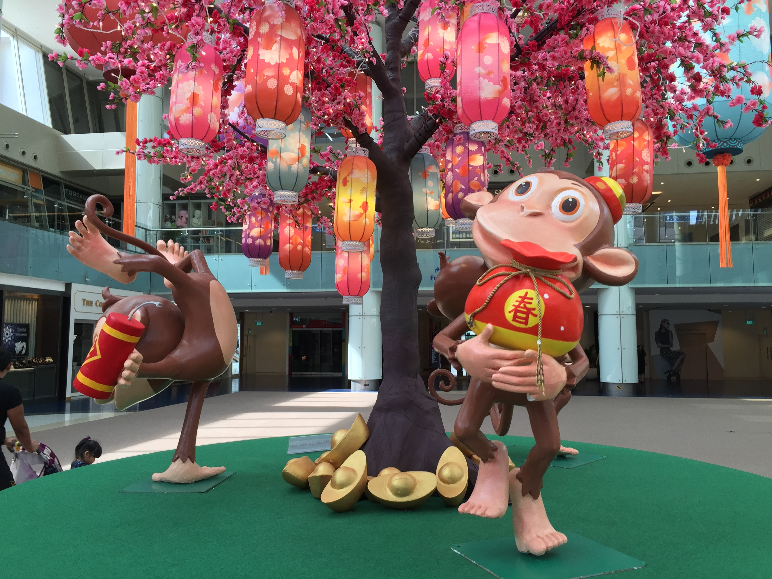 Lunar New Year decorations in Marina Square, Singapore.