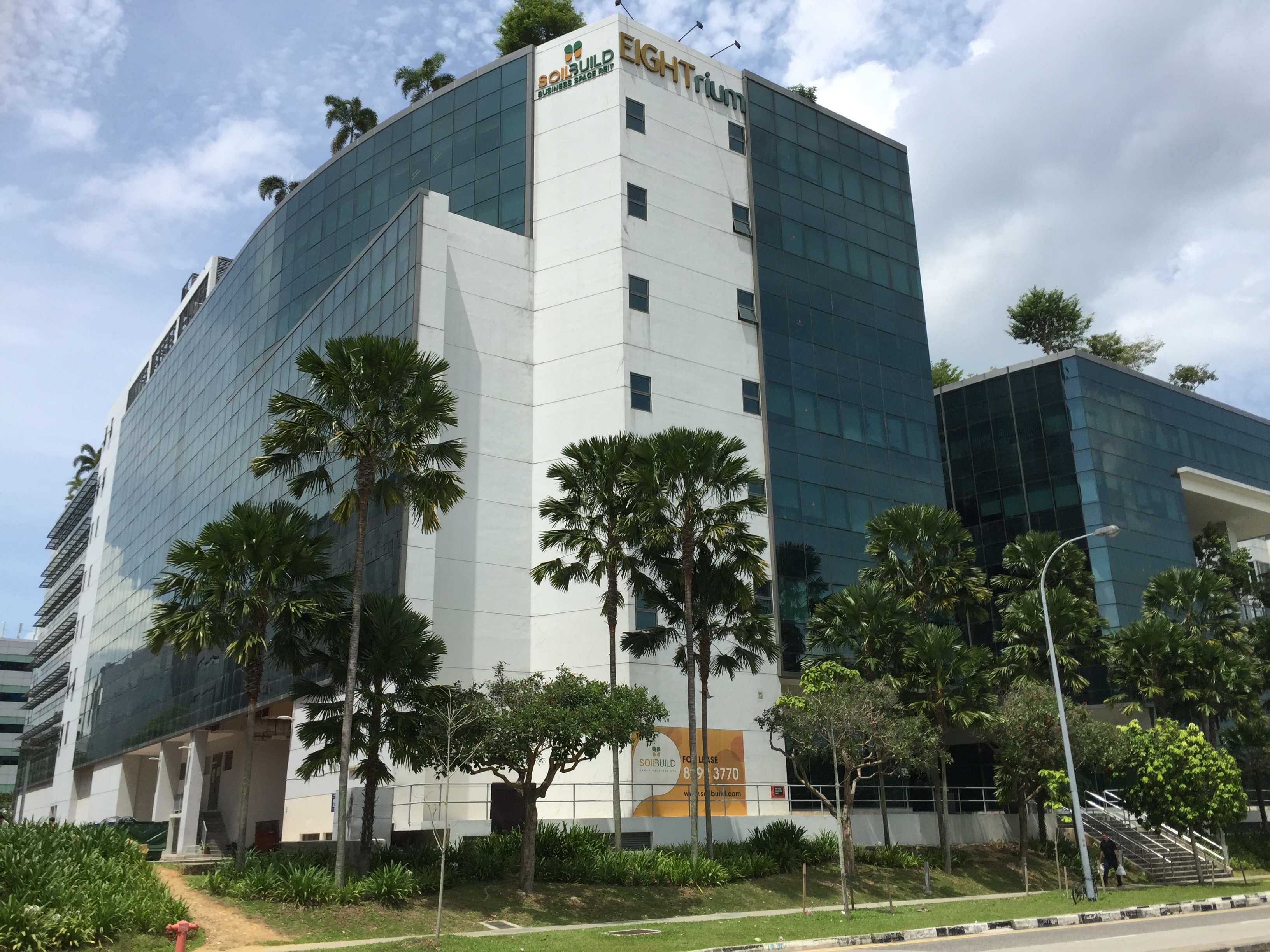 Soilbuild Business Space REIT's Eightrium @ Changi Business Park (Photo: REITsWeek)