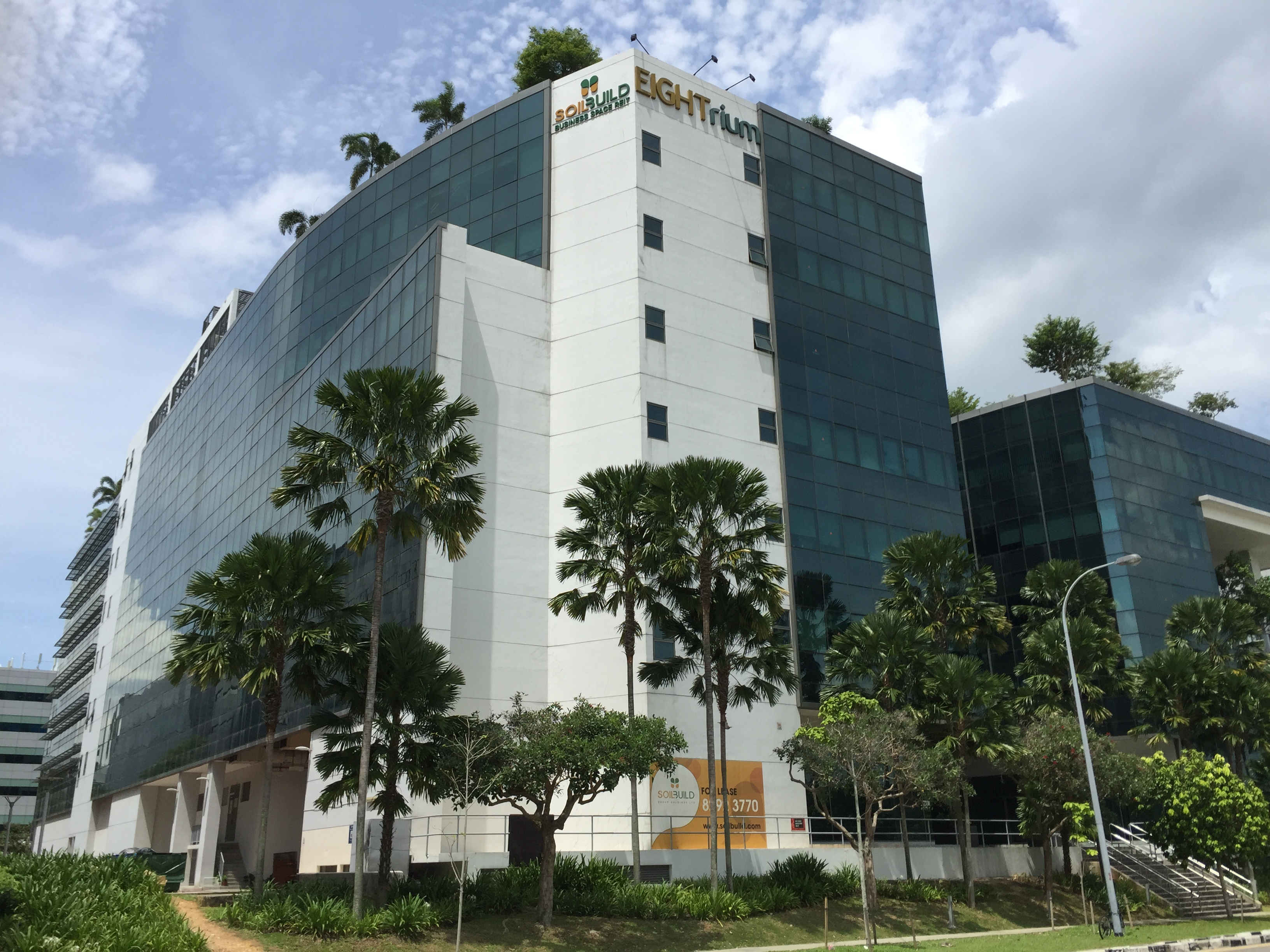 Soilbuild REIT's Eightrium in Changi Business Park (Photo: REITsWeek)