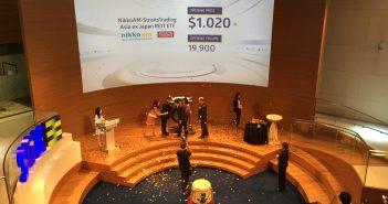 Listing ceremony of the Nikko AM - Straits Trading Asia ex Japan REIT ETF. (Photo: REITsWeek)