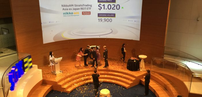 Listing ceremony of the Nikko AM - Straits Trading Asia ex Japan REIT ETF. (Photo: REITsWeek)