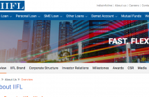 Screenshot of IIFL Holdings corporate site.