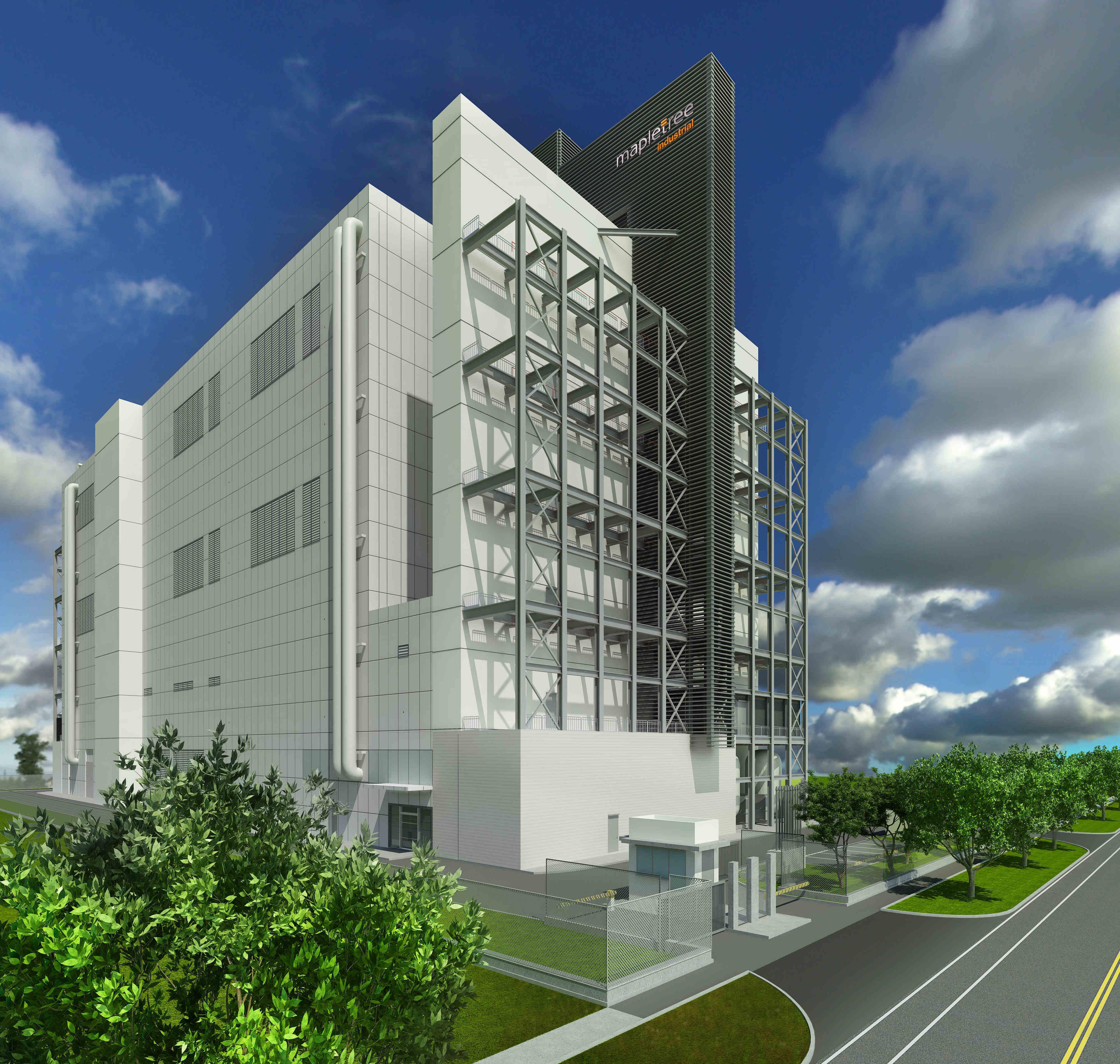 A CGI depiction of Mapletree Sunview 1 (Photo: Mapletree Industrial Trust)