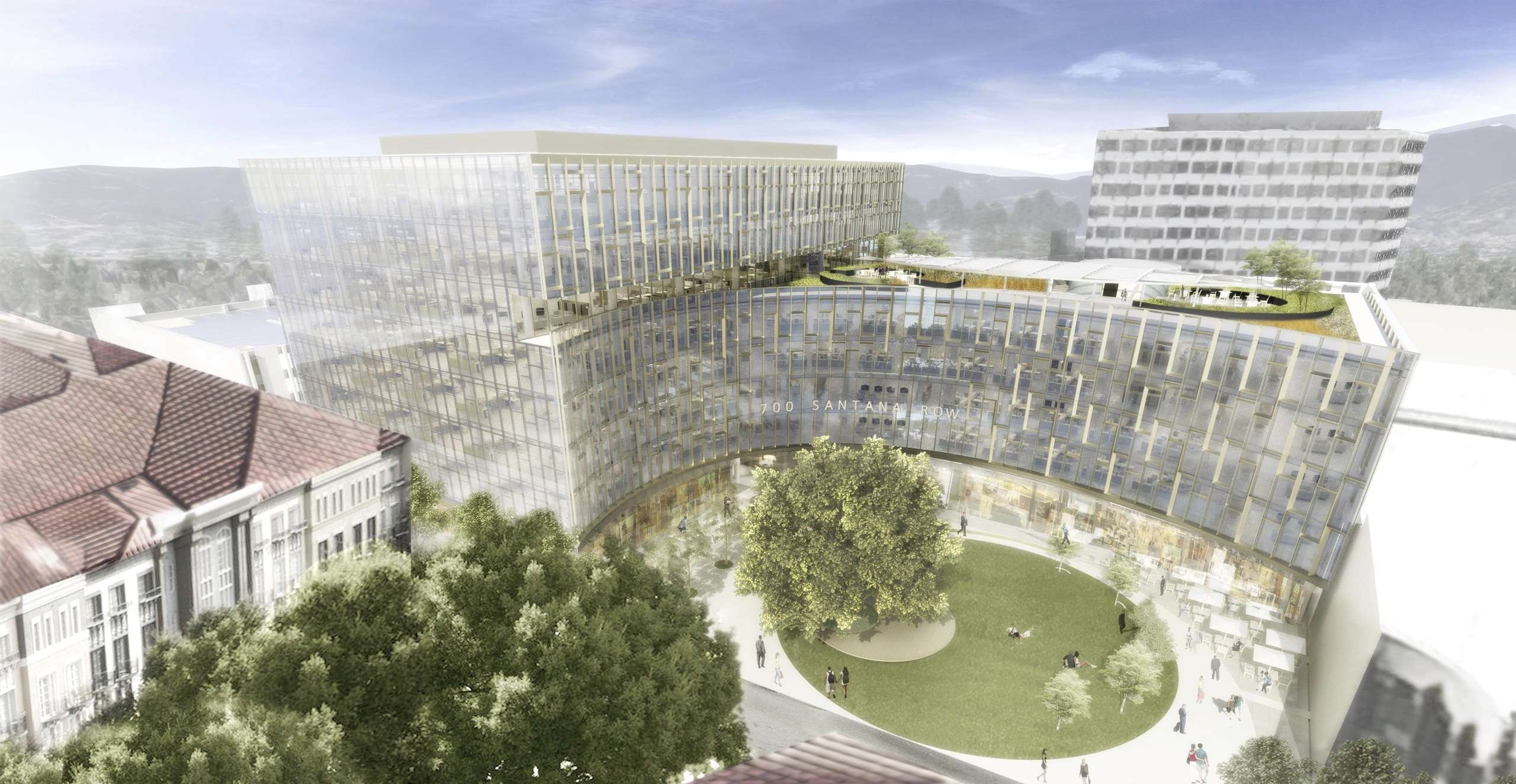 Artist's impression of Federal Realty Investment Trust's 700 Santana Row. (Image: WRNS Studio)