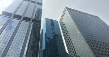 OUE Downtown 1 (left) and OUE Downtown 2 (right), both of which are being acquired by OUE Commercial REIT. (Photo: REITsWeek)