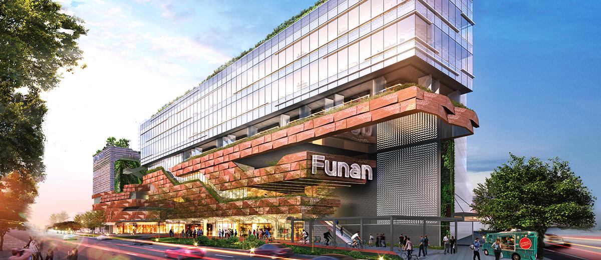 CapitaLand Mall Trust property, Funan. (Photo: REITsWeek)