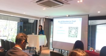 Beh Siew Kim, CEO of Ascott REIT's manager, at the briefing on 29 January. (Photo: REITsWeek)