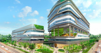 An artist's impression of the Grab headquarters that will be developed by Ascendas REIT. (Image: Ascendas REIT)