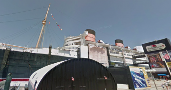 The Queen Mary, along Long Beach California, which will be an initial property under Eagle Hospitality Trust. (Photo: Google Maps)
