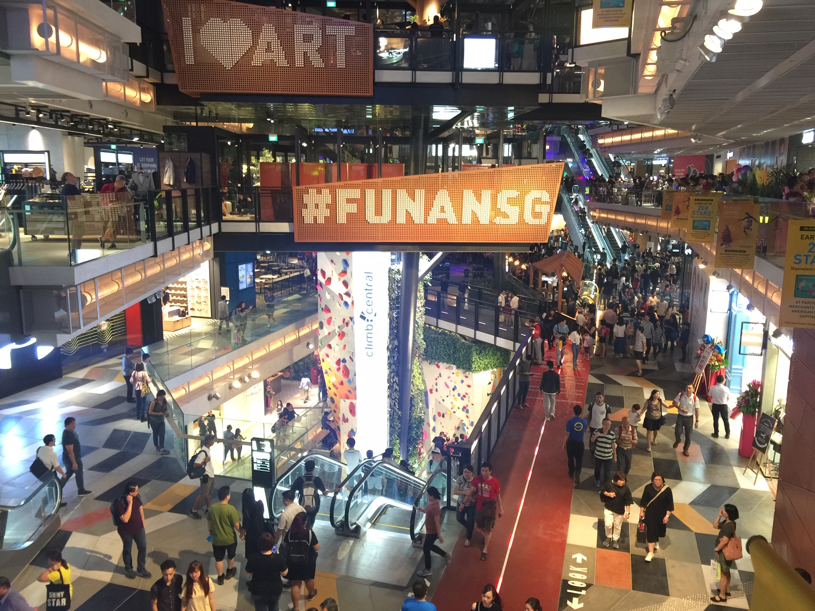 The interior of Funan, a property of the future CapitaLand Integrated Commercial Trust. (Photo: REITsWeek)