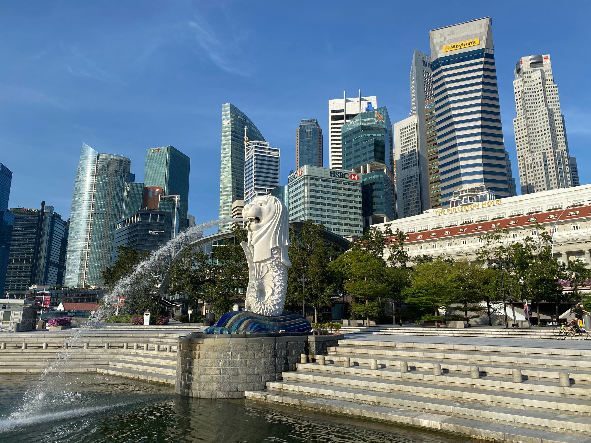 The Singapore skyline, with a view of major properties held by REITs. (Photo: REITsWeek)