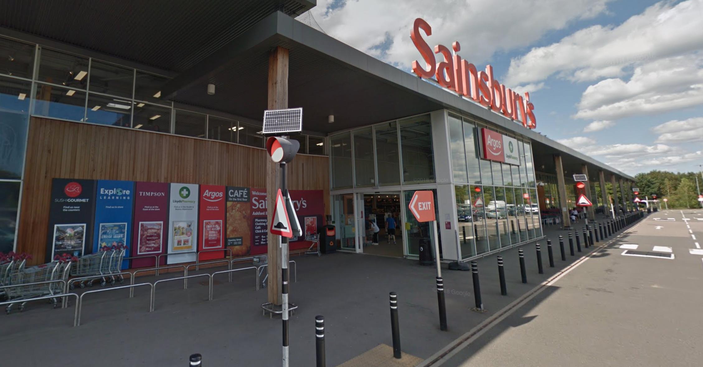 Supermarket Income REIT property, Sainsbury's, Ashford (Photo: Google Maps)
