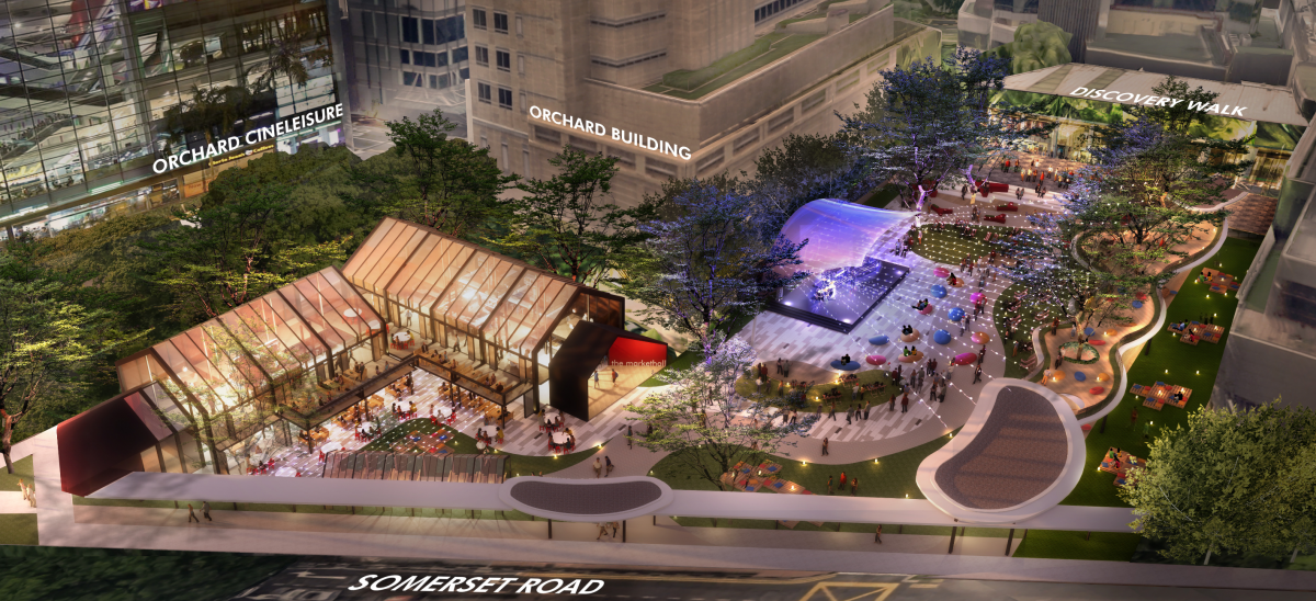 An artist's impression of the event space at Grange Road that will be managed by Lendlease Global Commercial REIT. (Photo: Singapore Tourism Board)
