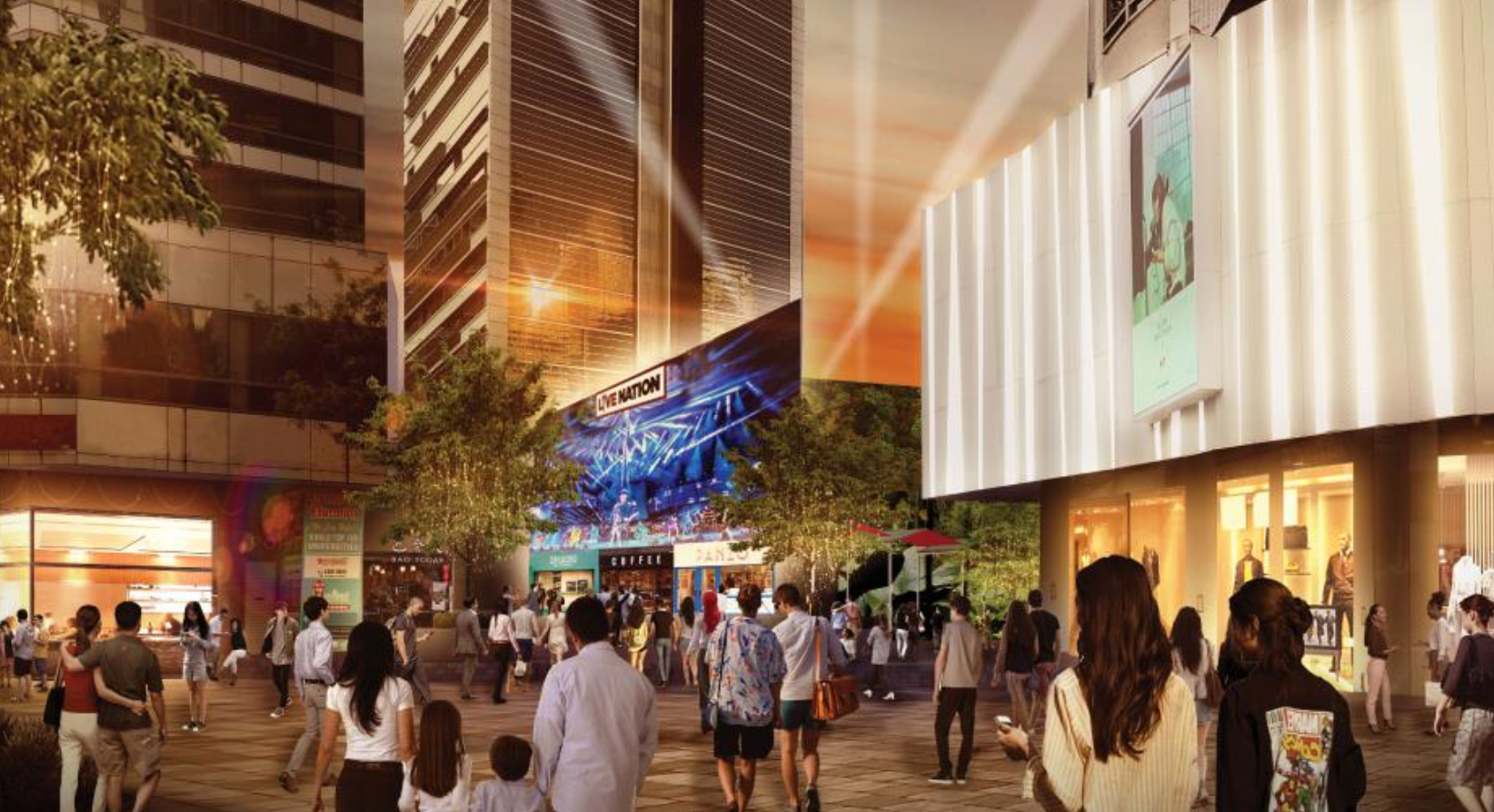 An artist's impression of the Grange Road event space that will be managed by LendLease Global Commercial REIT. (Photo: Lendlease Global Commercial REIT)